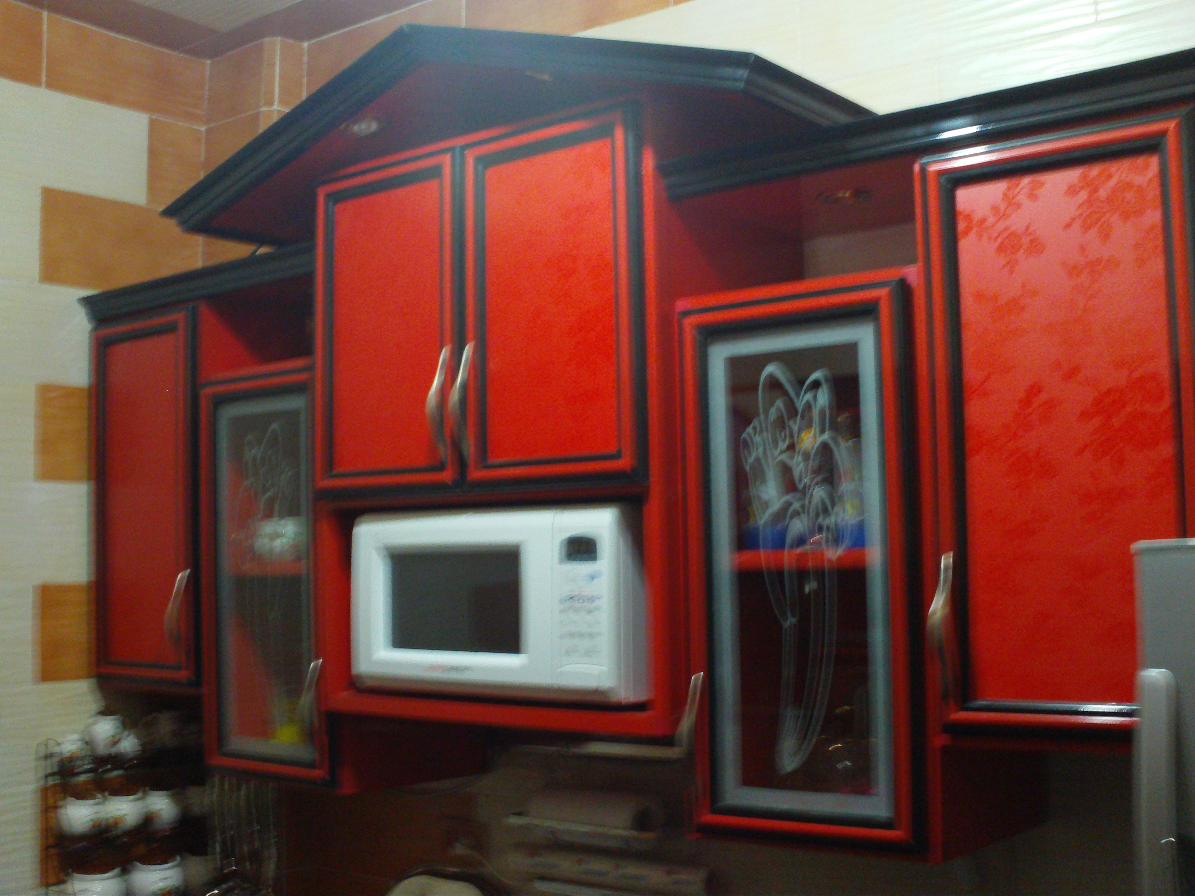 مطبخ احمر فى اسود